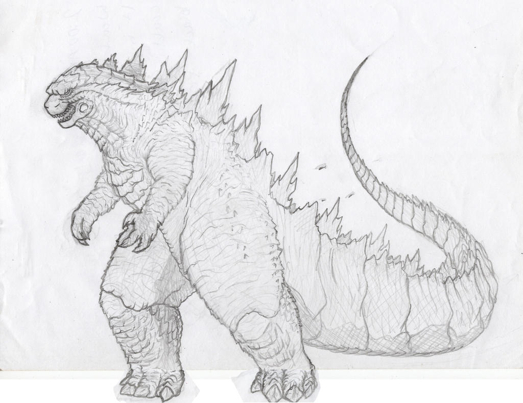 godzilla free colouring pages