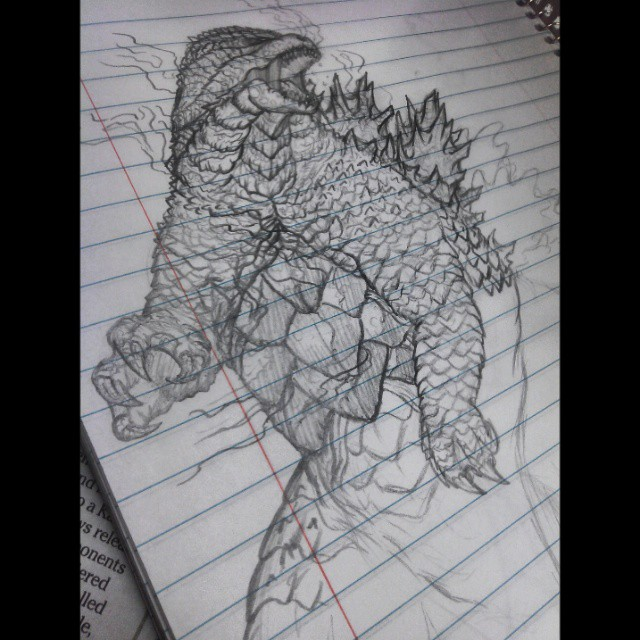 Burning godzilla by kamakoa09
