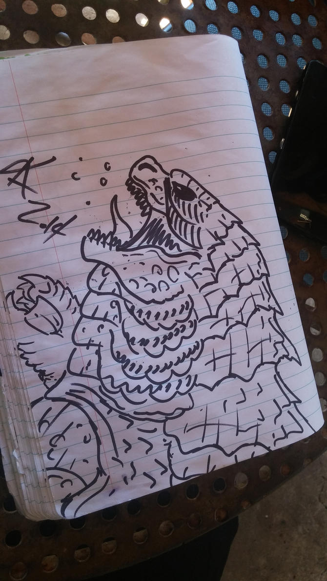 godzilla 2014 quick sketch by kamakoa09