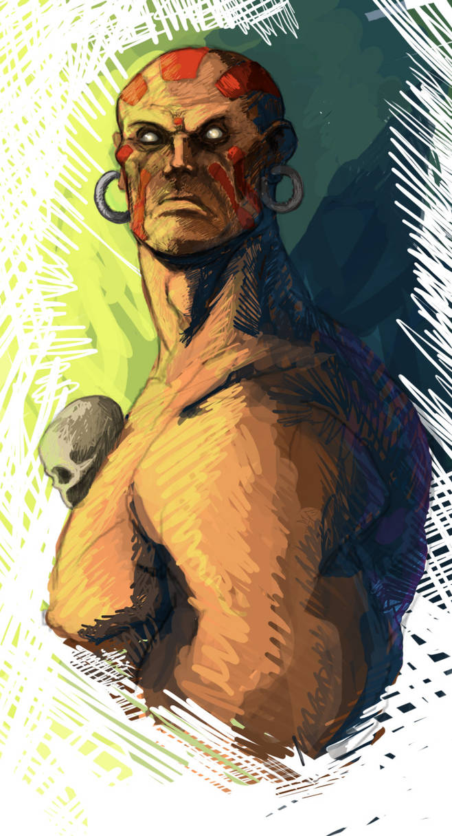 Dhalsim color by CleverBlue