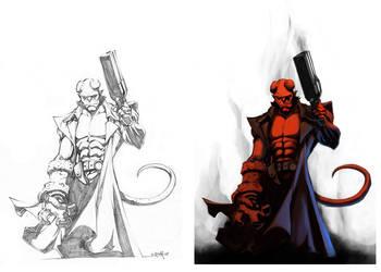 NeMAfronSPAiN's Hellboy color