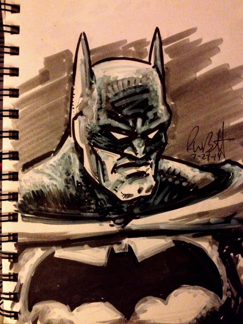 Batman Marker Sketch by BigGuido