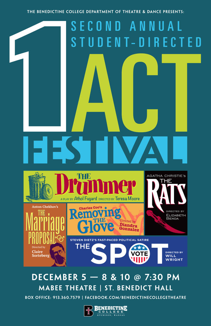 2nd Annual 1-Act Festival Play Poster by BigGuido