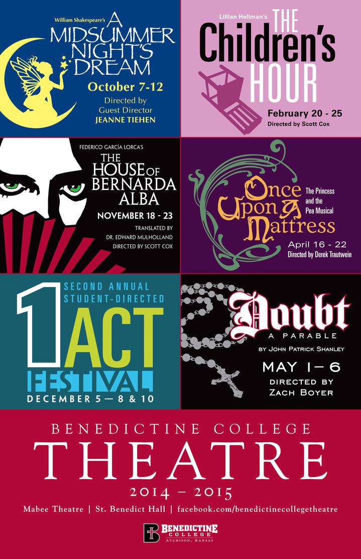 Benedictine College Theatre 2014-15 Season Poster by BigGuido