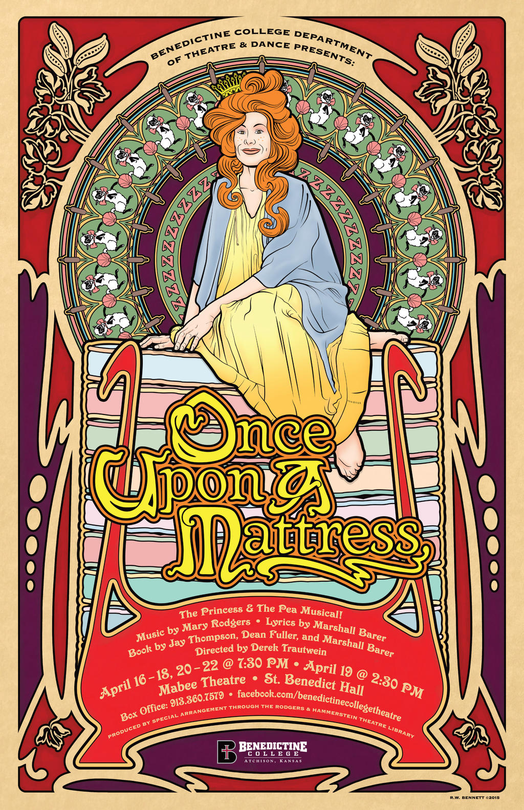 how to build a bed for once upon a mattress