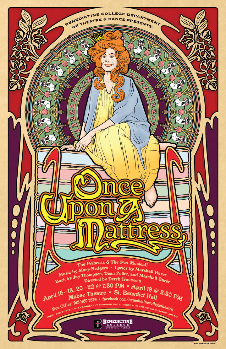 Once Upon A Mattress Play Poster by BigGuido
