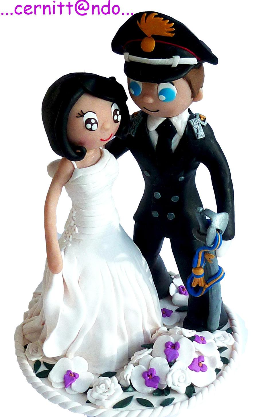 Tanja Cake Topper Artist : Fimo Wedding Cake Topper by cernittando on DeviantArt