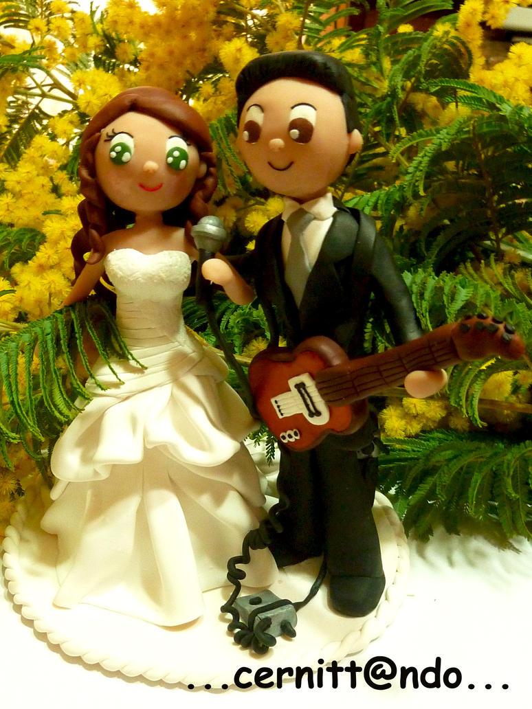 Polymer clay wedding cake topper by cernittando on DeviantArt