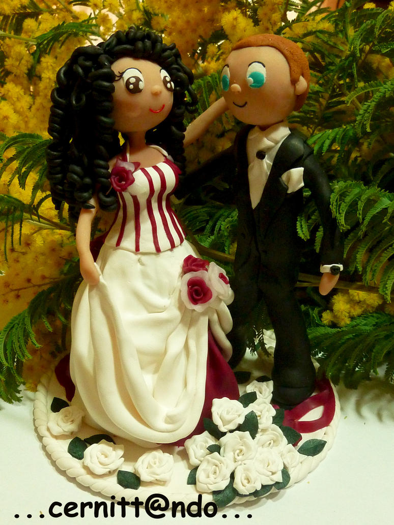 clay wedding cake toppers polymer clay wedding cake topper by cernittando on deviantart 12879