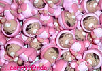 Polymer clay little baby girls