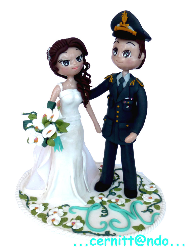 Polymer clay wedding cake topper by cernittando on DeviantArt