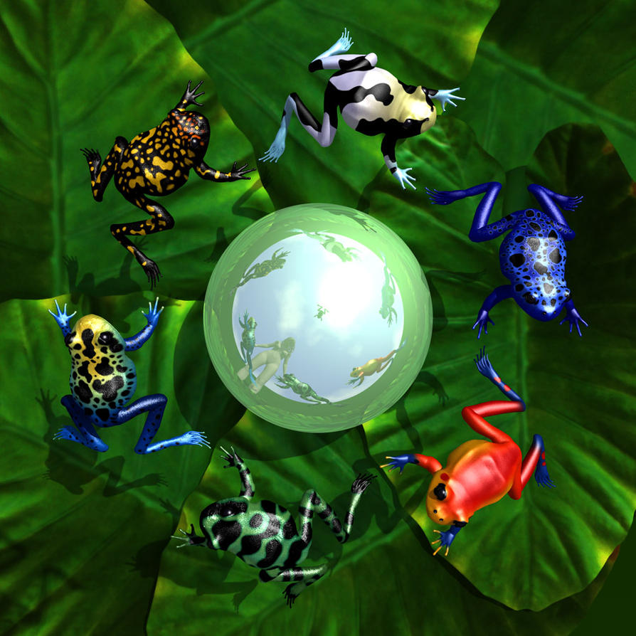 Poison Dart Frogs by parrotdolphin