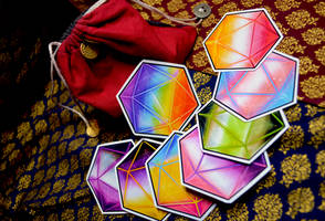 LGBTQ D20 Stickers - Table of Curiosities