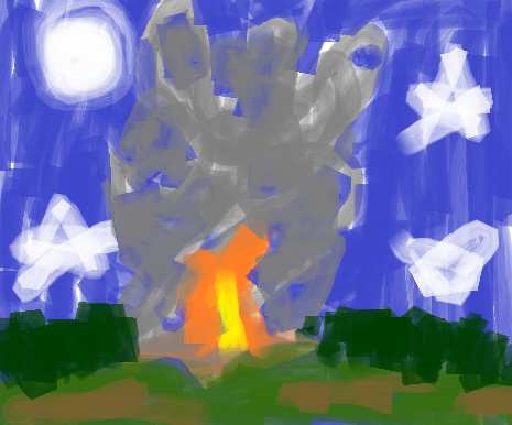 Campfire in the Lone Woods by lumberwood