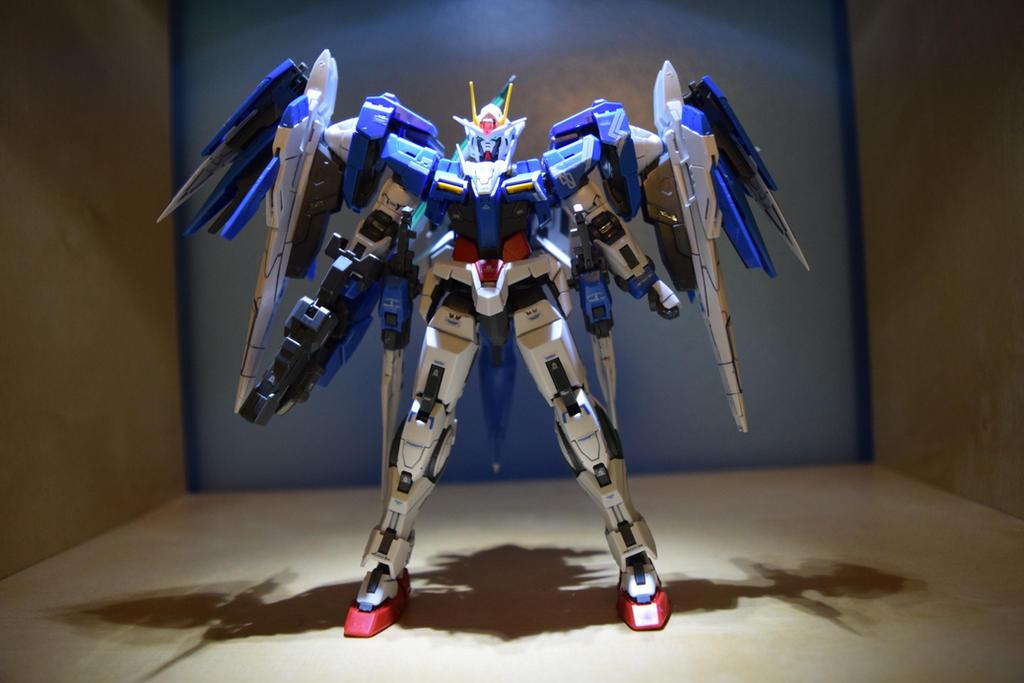 RG Gundam 00 Raiser(Front View) by EnemySpartan