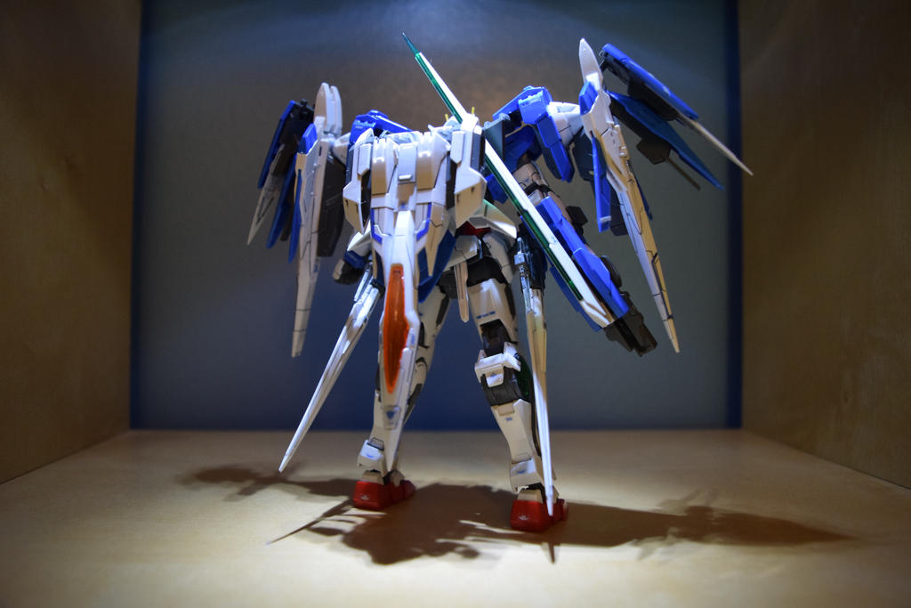 RG Gundam 00 Raiser(Back View) by EnemySpartan