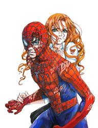 Pete and MJ (Spider-Man 3 Finale) by JaytheForceSensitive