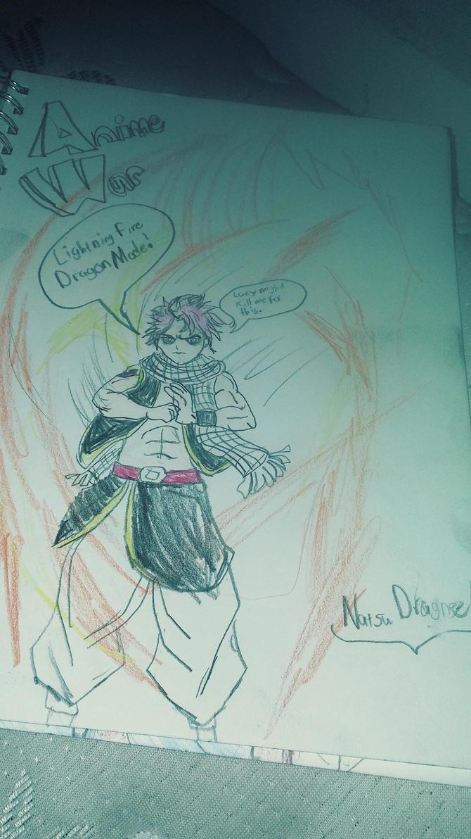 Natsu Dragneel (Lightining Fire Dragon Mode) by JaytheForceSensitive
