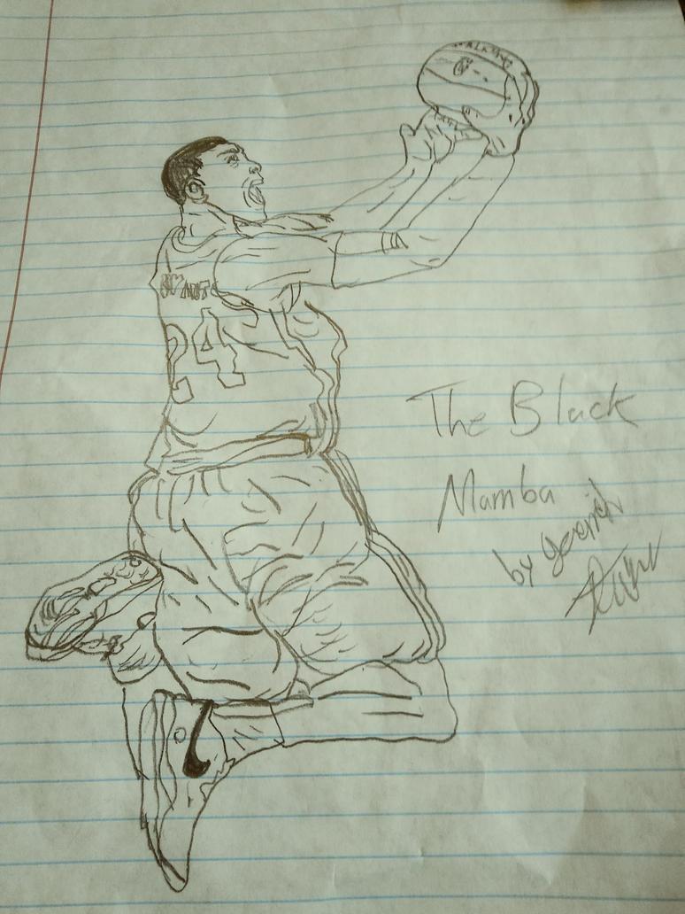 The Black Mamba,Kobe Bryant by JaytheForceSensitive