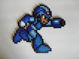 Mega Man in Perler Beads by Imm0rtalSoul