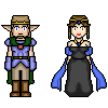 Pixel Art: The Elf King and the Dark Queen by Gyrick