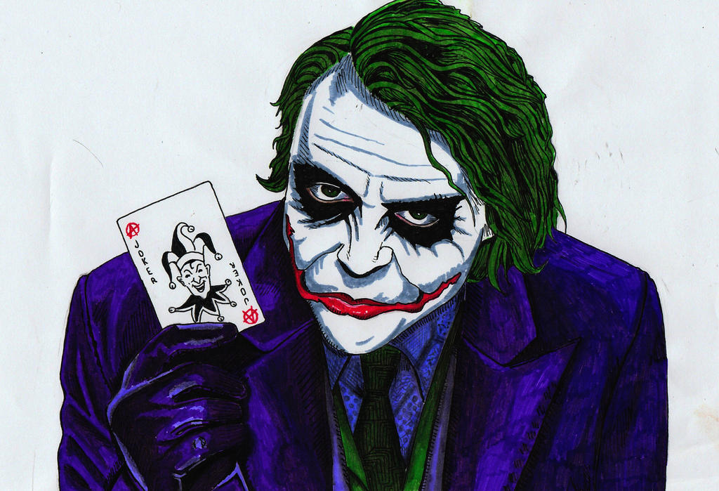 Heath Ledger's Joker comic book version by meralc on ...