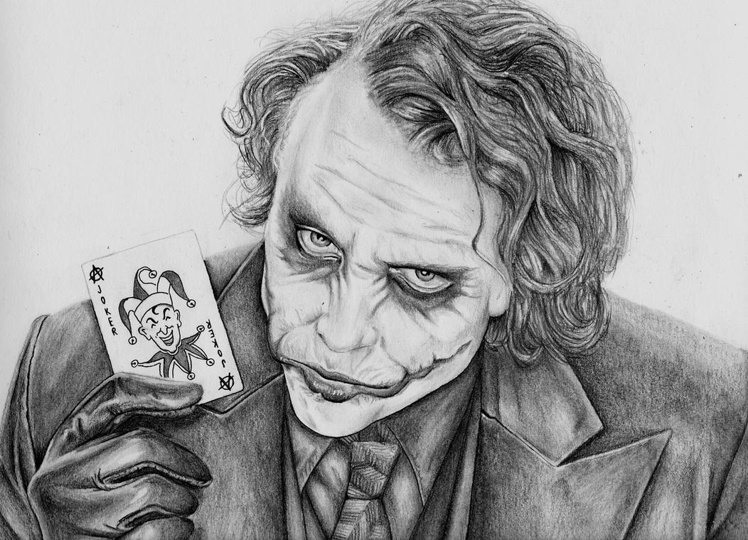 Heath ledger joker by meralc on deviantart - Comment dessiner joker ...