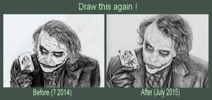 Draw this again #8 Heath Ledger Joker