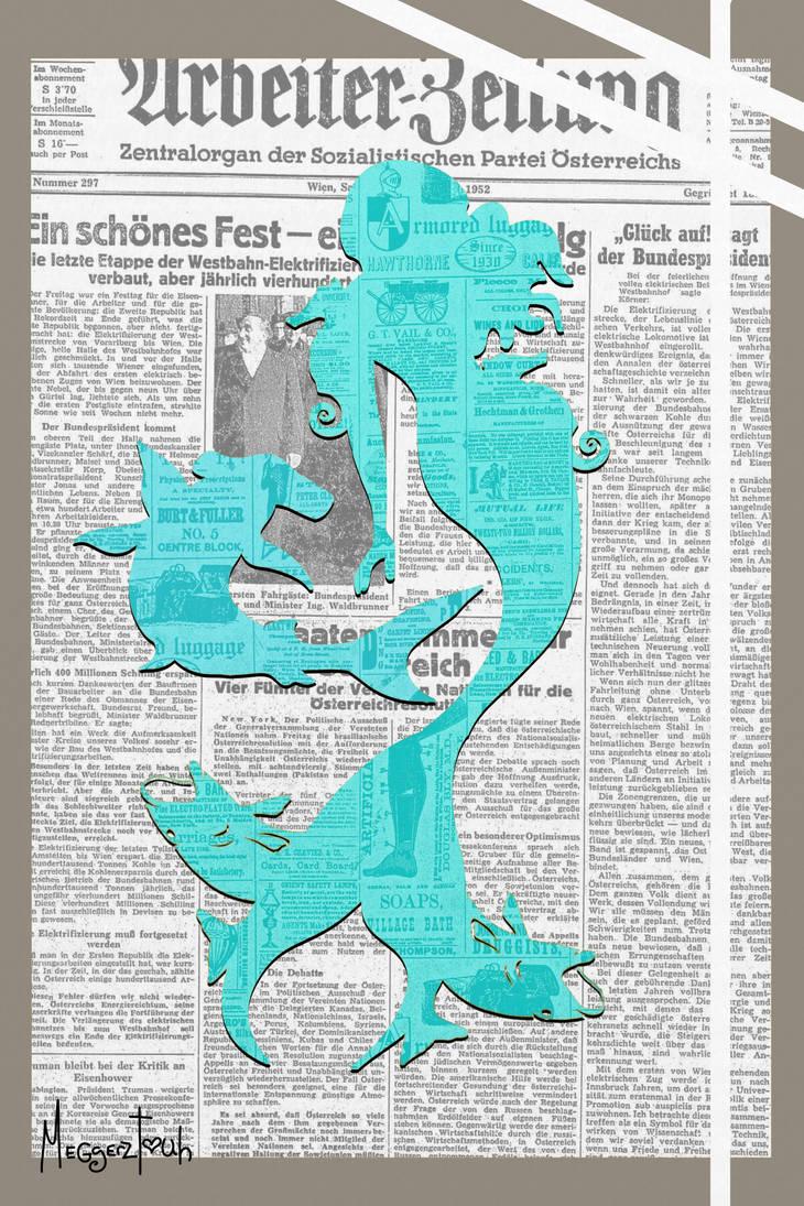 Mermaid Newsprint