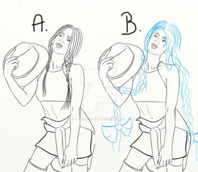 Which hair style should I paint?