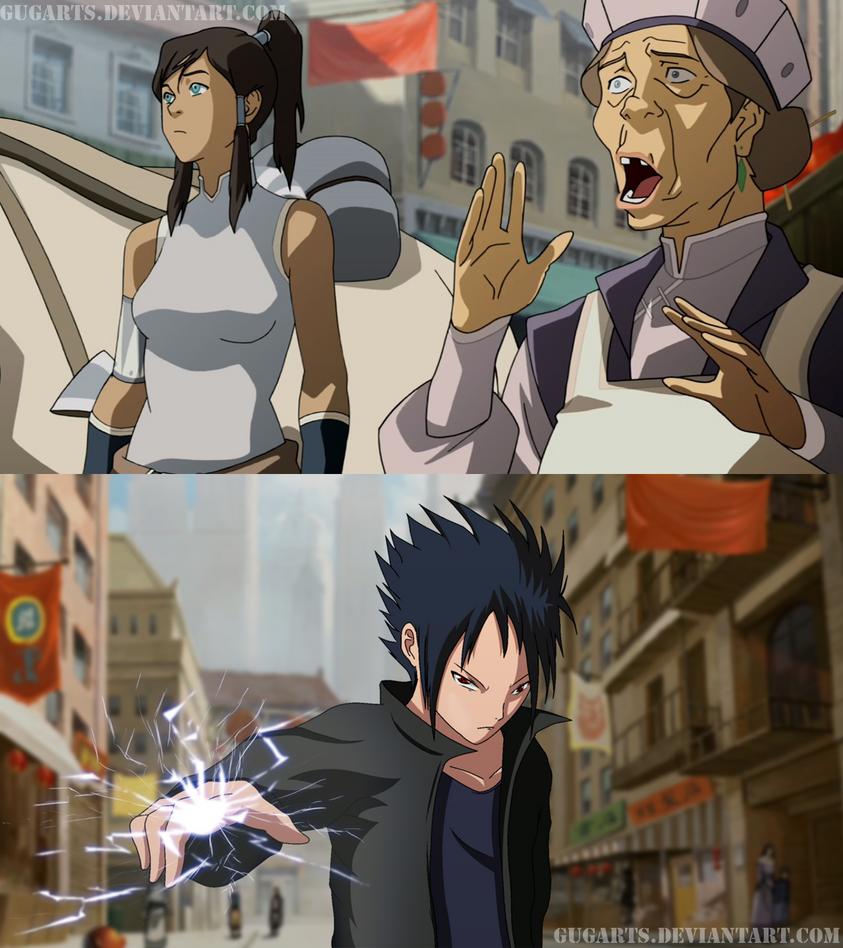 Sasuke vs Korra !? by Gugarts on DeviantArt  Sasuke vs Korra...