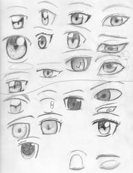 anime eyes by visiouscatlovet