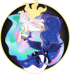 As the Sun rises, So does the Moon, Always by visiouscatlovet