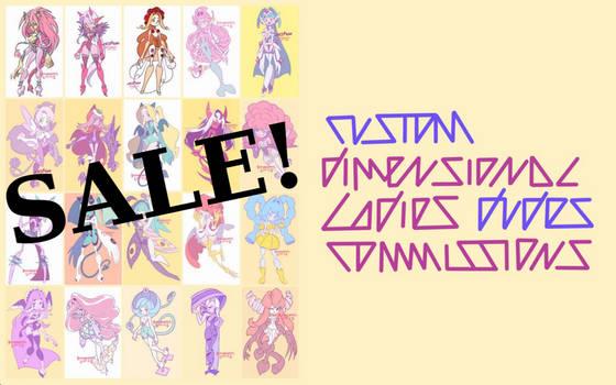 SALE!! Custom Dimensional Ladies/Dudes [OPEN]