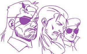 'Venom S., Ocelot and Kazuhira M.' - Commission