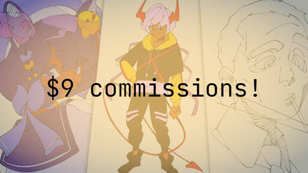 9$ commissions! [OPEN]