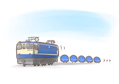 EF65 and 5coaches