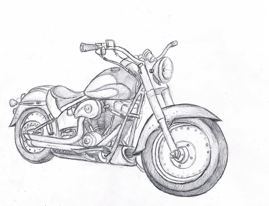 Line Art Motorcycle : Motorcycle sketch by wforwumbo on deviantart