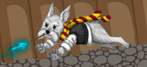 Secret Santa: Chief-Nerd-Girl's Wizard Dog