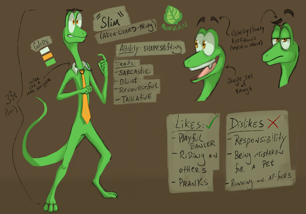 Slim Gets A Ref Sheet By Wforwumbo On Deviantart