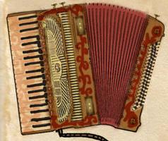 Steampunk piano accordion