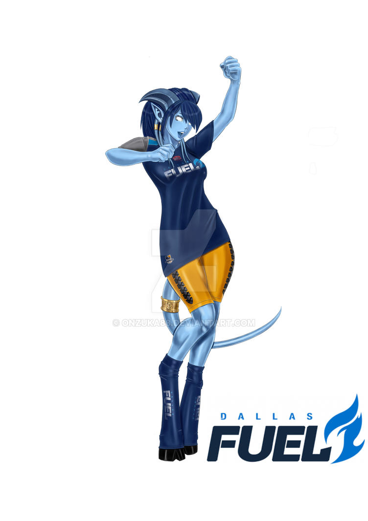dallas fuel jersey draenei commission by onzuka88 on deviantart