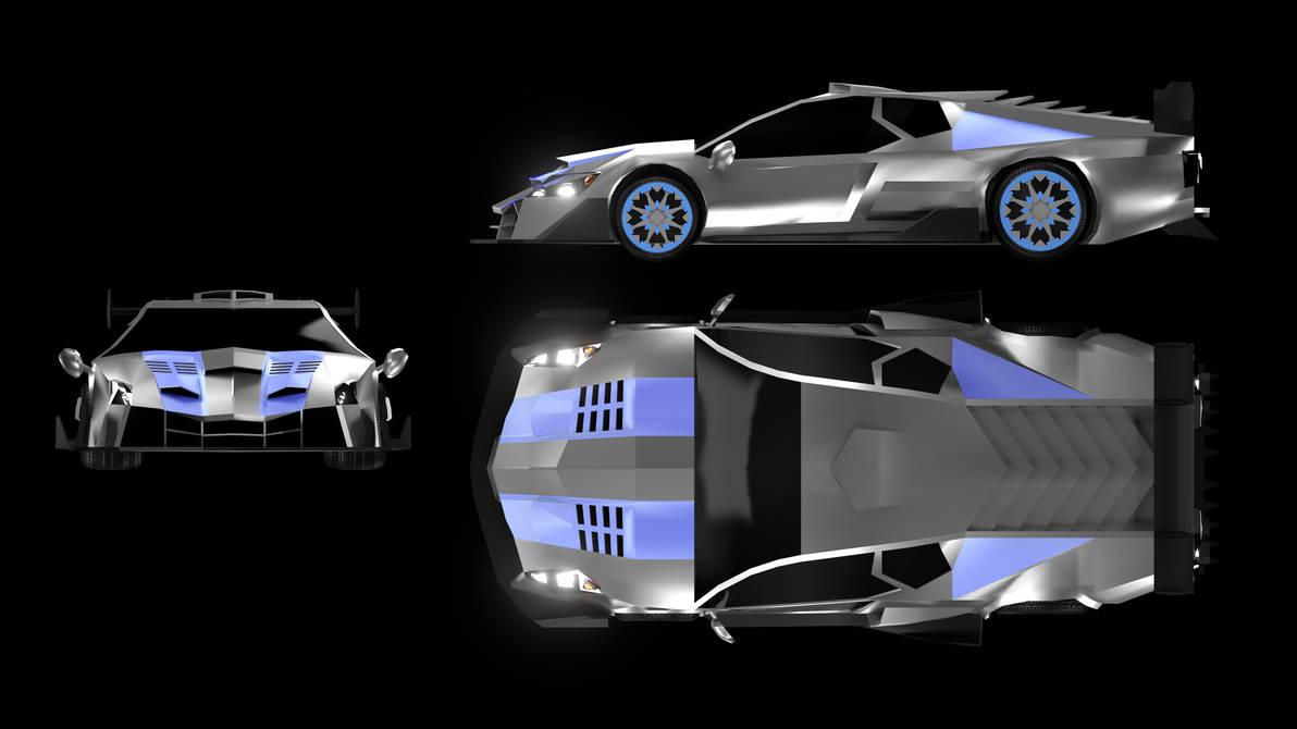 Sports Car Blueprint by DarkLightningModels on DeviantArt