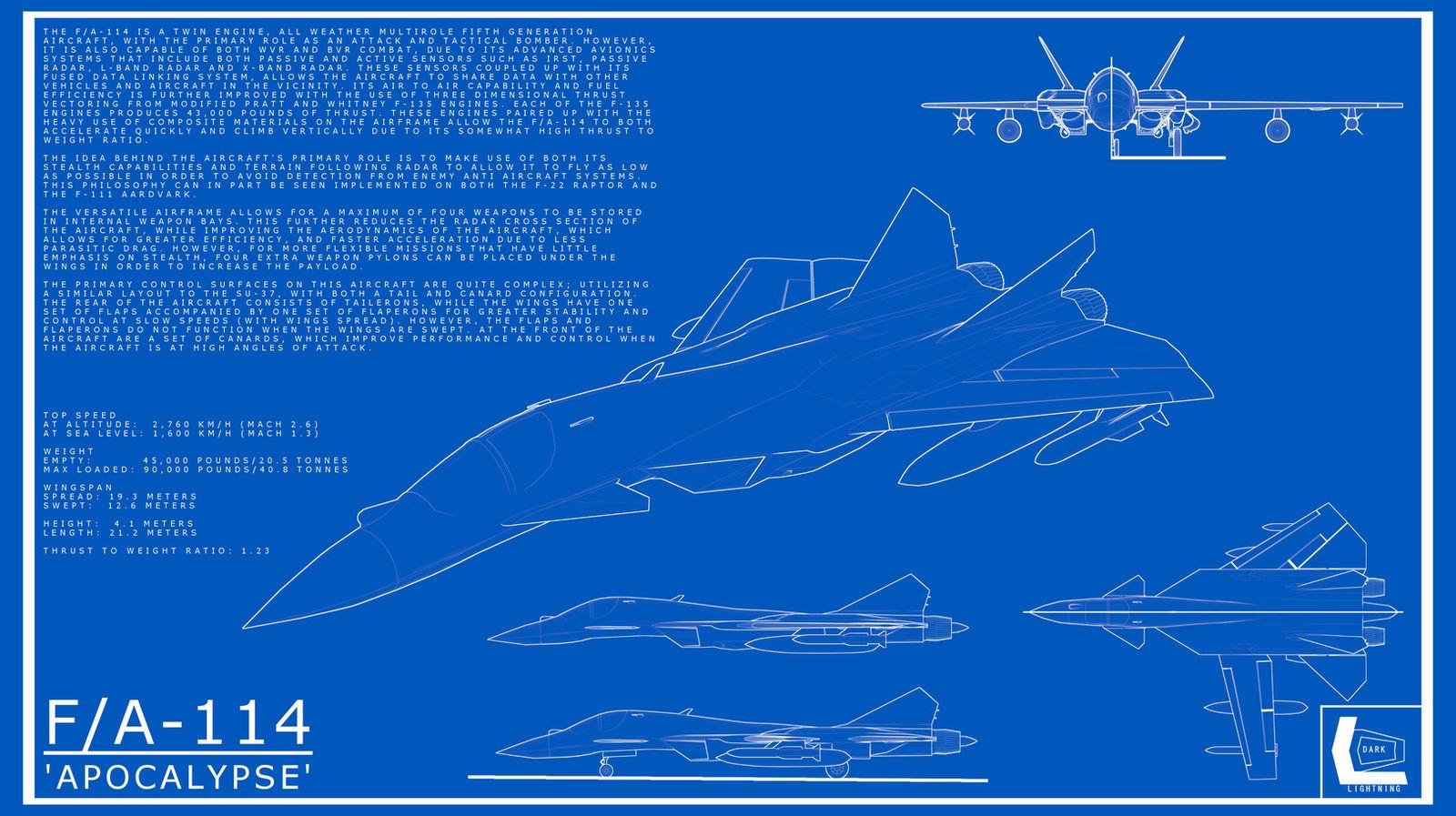 F A 114 Apocalypse Blueprint By Darklightningmodels On Deviantart
