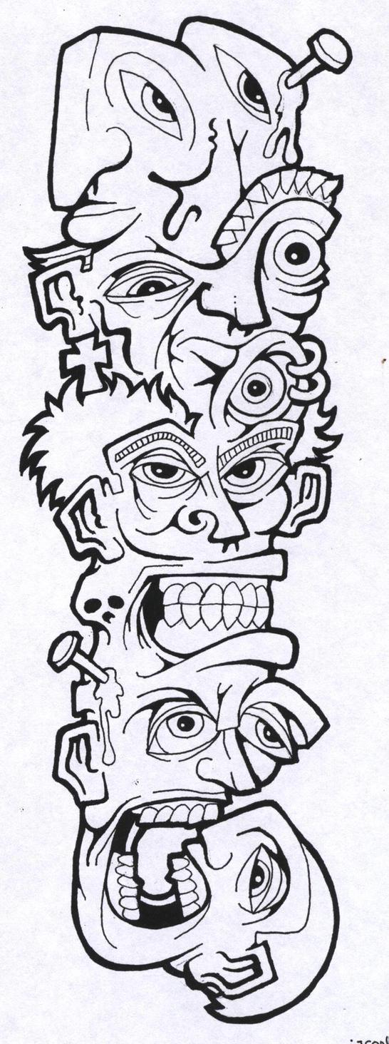 Tattoo Flash Line Art
