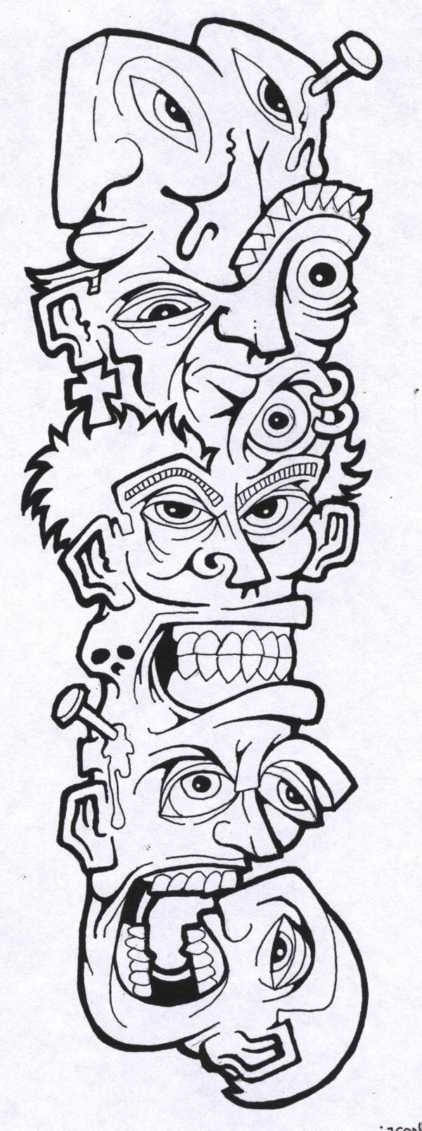 Line Drawing Tattoo Flash : Tattoo flash line art by jakehawn on deviantart