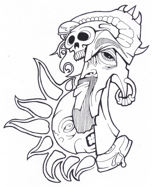 Tattoo Flash Line Drawing Converter : More tattoo flash line art by jakehawn on deviantart