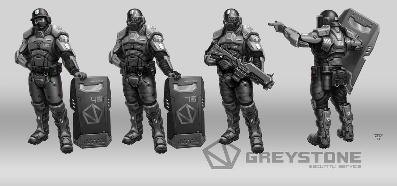 GREYSTONE Project - Guards 02 by hunterkiller