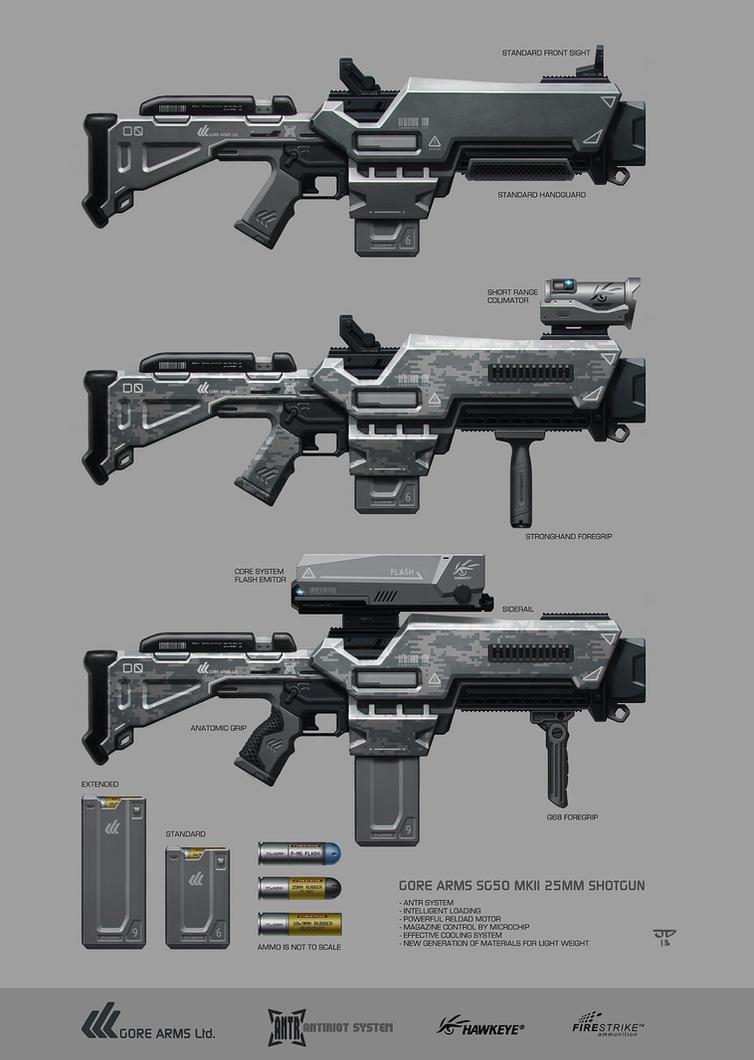 GREYSTONE Project - GoreArms 25mm Shotgun by hunterkiller