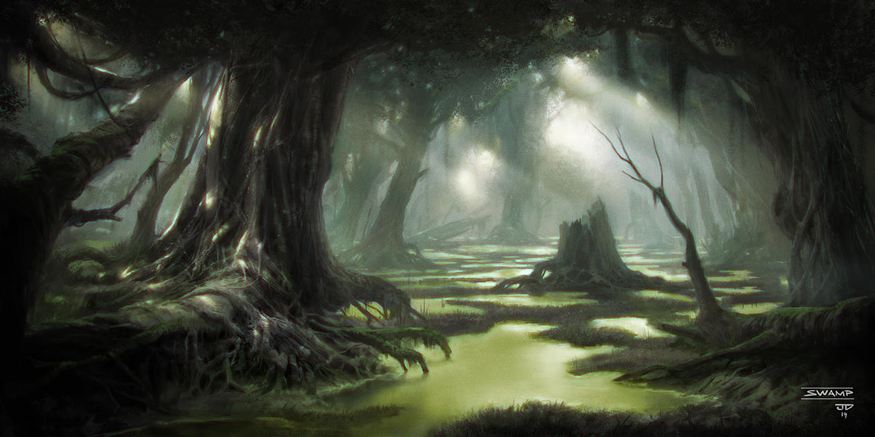 The Swamps of Prayvania 7_mages___swamp_by_hunterkiller-d9vkgcx